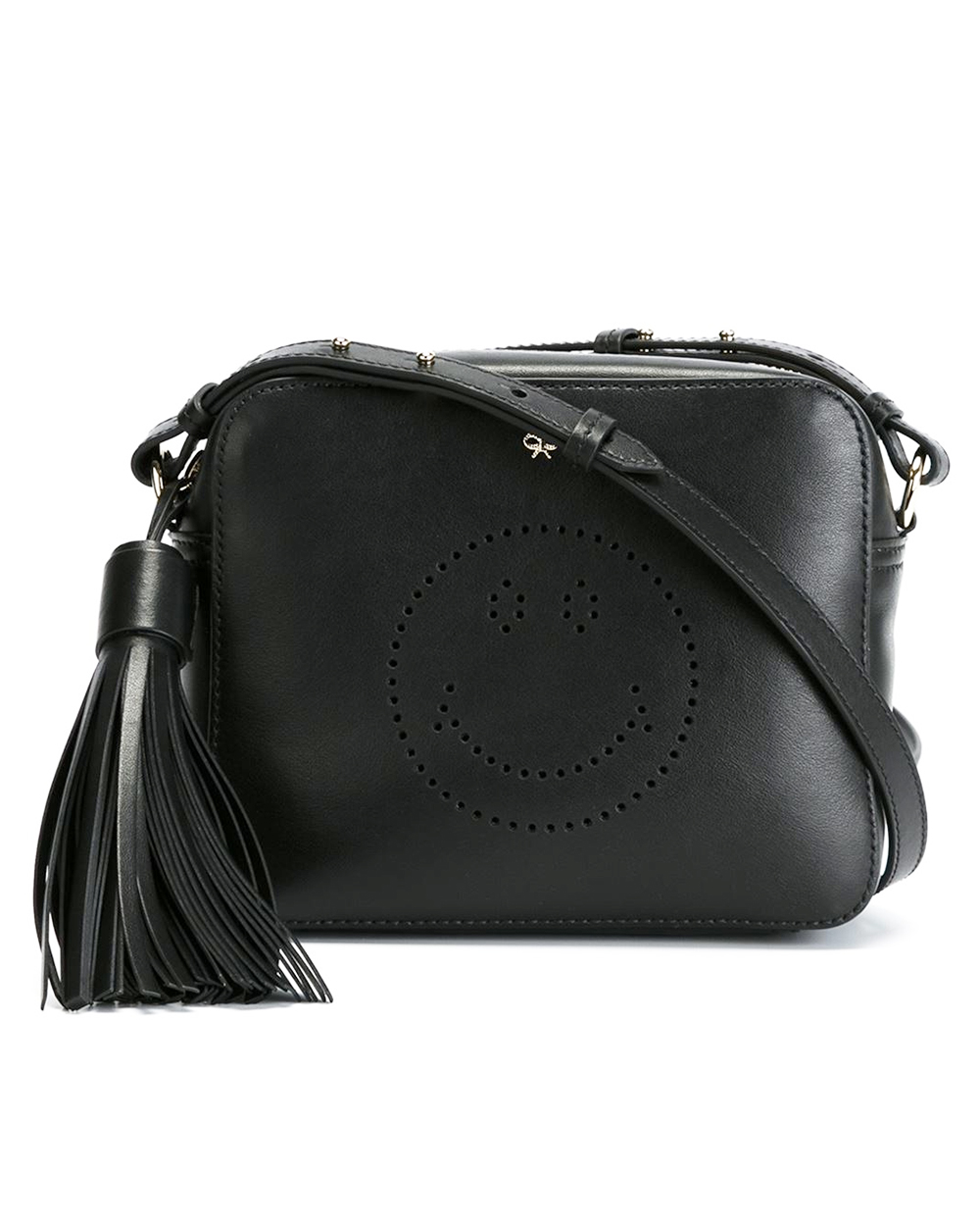 The-Bag-Freak-Anya-Hindmarch-Black-Smiley-Crossbody